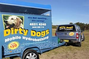 Dirty Dogs Mobile Hydrobathing - PH 02 4621 4240